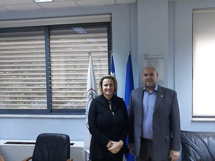 Αποτέλεσμα εικόνας για Ενημερωτική συνάντηση πραγματοποίησε η Βουλευτής Κορινθίας κα Μαριλένα Σούκουλη Βιλιάλη με το Διοικητή του ΕΚΑΒ, κ. Νικόλαο Παπαευσταθίου.